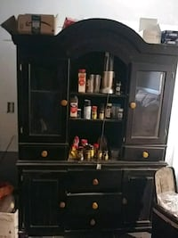 black wooden cabinet with hutch Raleigh, 27610