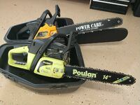 Poulan 20 inch and poulan 14 inch chainsaws
