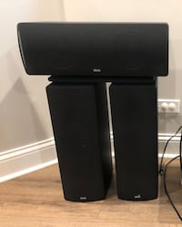 Svs scs 02 speakers - center, left, right channel in good condition