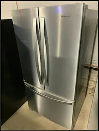 New French door whirlpool stainless fridge 36"