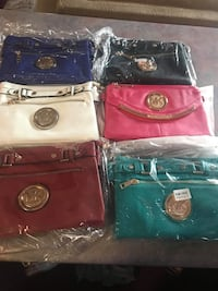 four assorted color leather bags Wilmington, 28412