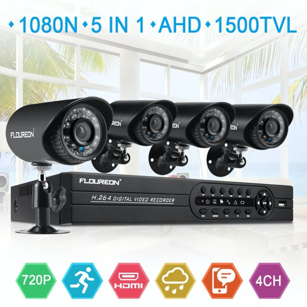 4 Full HD-TVI DVR InfraRed Outdoor Security Camera System - NEW