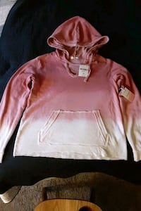 PINK/WHITE FADE HOODIE. FOREVER 21 Glen Burnie, 21061