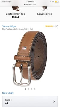 brown leather belt with silver buckle Hamilton, L8W 3H9
