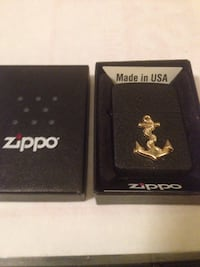 1932 Replica rounded Corner Zippo with NAVY ANCHOR