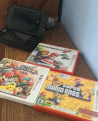 3DS 3 games Mario cart 7 super smash bros and super Mario bros 2 Brampton, L6P 2H6
