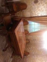 brown wooden framed glass top coffee table Southampton, 18966
