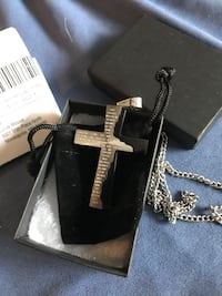Stainless steel cross pendant with encryption of the Lord's Prayer