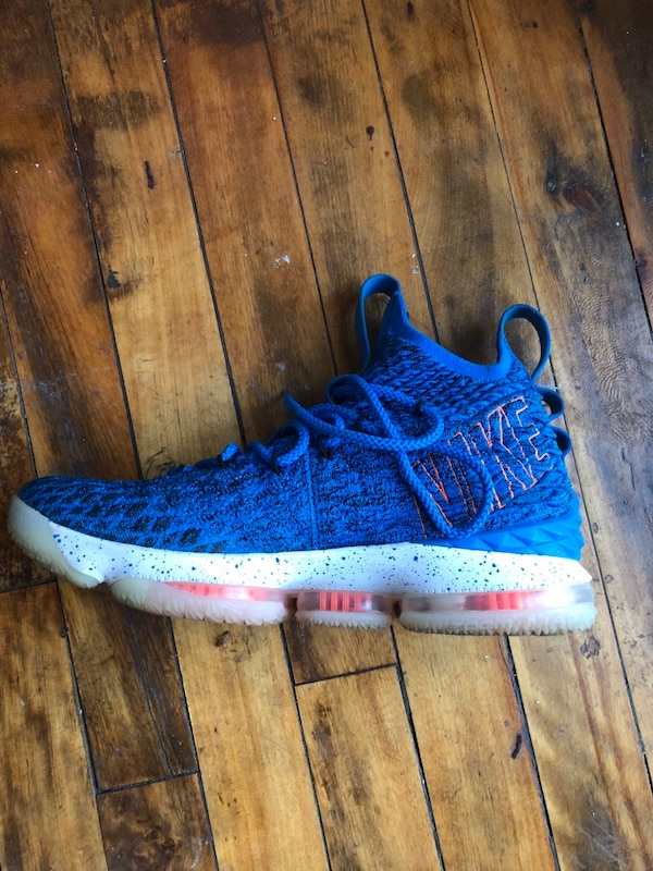 3f07c644aa8 Used Unpaired blue and white nike basketball shoe for sale in ...