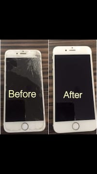 before and after iPhone screen repair collage Miami Gardens, 33055