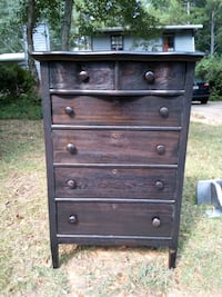Antique Oak Highboy Chest of Drawers