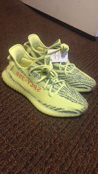 Pair of green adidas yeezy boost 350 shoes Albany, 12208
