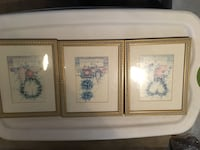 three brown wooden framed painting of flowers Daly City, 94015