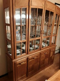 brown wooden framed glass display cabinet Bay Shore, 11706