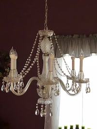 Glass Chandelier with 6 lights great for a dining room or foyer Bellefontaine, 43311