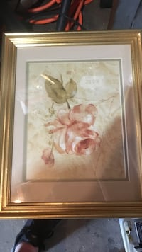 brown wooden framed painting of white petaled flower Daly City, 94015