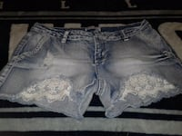 women's blue denim short shorts Ogden, 84404