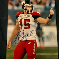 Andrew Buckley signed Calgary Stampeders photo