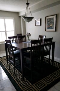 Bar Table + 8 Chairs Dining Room Set Mississauga, L5N 7R5