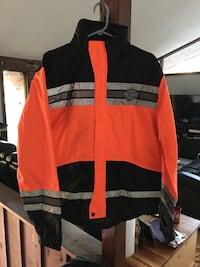 orange and black zip-up jacket Sumerduck, 22742