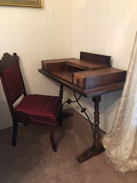 Antique writing table and chair Fenton, 70648