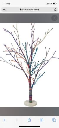 Large yarn tree with little light