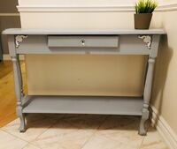 Beautiful solid pine light grey console table/ hallway table w drawer  Milton, L9T 4J6