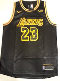 Lebron James Lakers Jersey Los Angeles Away Black Stitched #23  M - 2XL Riverview