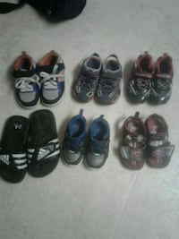 toddler's assorted pairs of shoes SIZE 6-8 Millsboro, 19966
