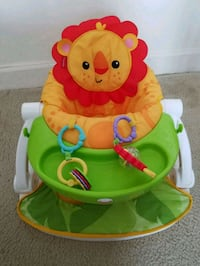 baby's green and orange Fisher-Price bouncer Arlington, 22204