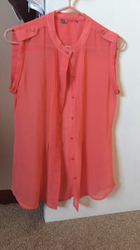 Coral buttons up cami West Lincoln