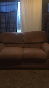 Brown fabric 2-seat sofa Pocono Summit, 18346