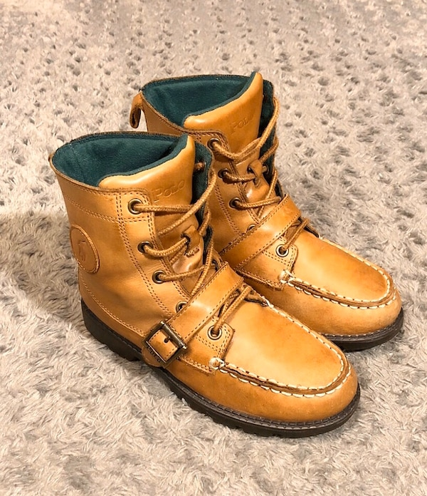 Boys Polo Ranger Hi boots paid $89 size 3 Great condition! Brown  181a04a1-bd14-4949-89c5-4a87d679cac9