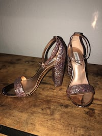pair of silver-colored open-toe heels Seattle, 98146