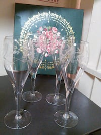 (4) Etched Crystal Wine Glasses Oxon Hill, 20745