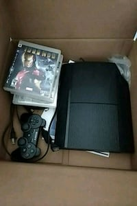 black Sony PS3 super slim console with controller Surrey, V3W 1H9