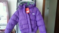 purple zip-up bubble jacket North Muskegon, 49445