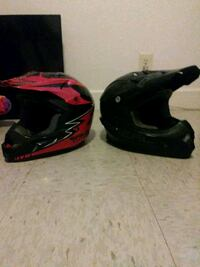 two black and red full-face helmets Tulsa, 74146