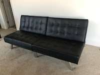 Black Leather Futon Sofa  Alexandria, 22312