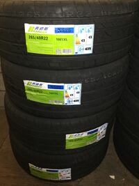 Set4 tires 265 40 22 instaled balance total ELMOFLES  Industry, 91746