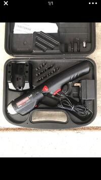 Black and gray corded power tool with case Gresham, 97080