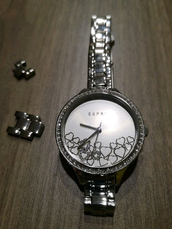New Esprit silver woman watches with hearts