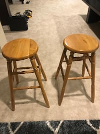 two brown wooden bar stools Lorton, 22079
