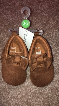 Brand new Brown shoes size 0-3 months Surrey, V3W 0S3