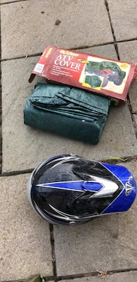 atv. cover brand new never used and a. riding helmet used a handgul of times  Scottsville, 14546