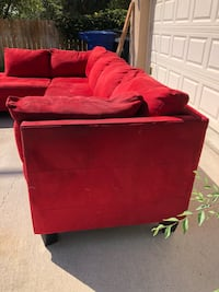 red suede sectional sofa with ottoman Salt Lake City, 84104