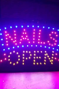 Neon Nails Open Sign-Brand New in Box  Aurora, L4G 6T5