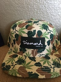 Green brown and  yellow leaves diamond supply co. cap Imperial, 92251