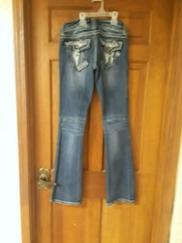 blue denim straight-cut jeans Pell City