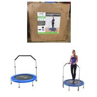 Pure Fun 40-Inch Exercise Trampoline, with Handrail, Blue Stafford, 77477